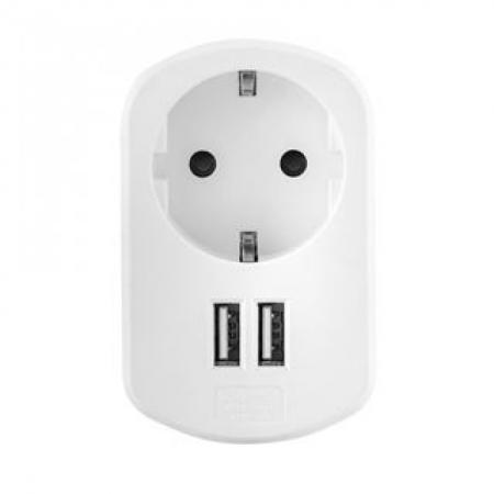 ACME CH20 Wall charger + Schuko plug + 2xUSB